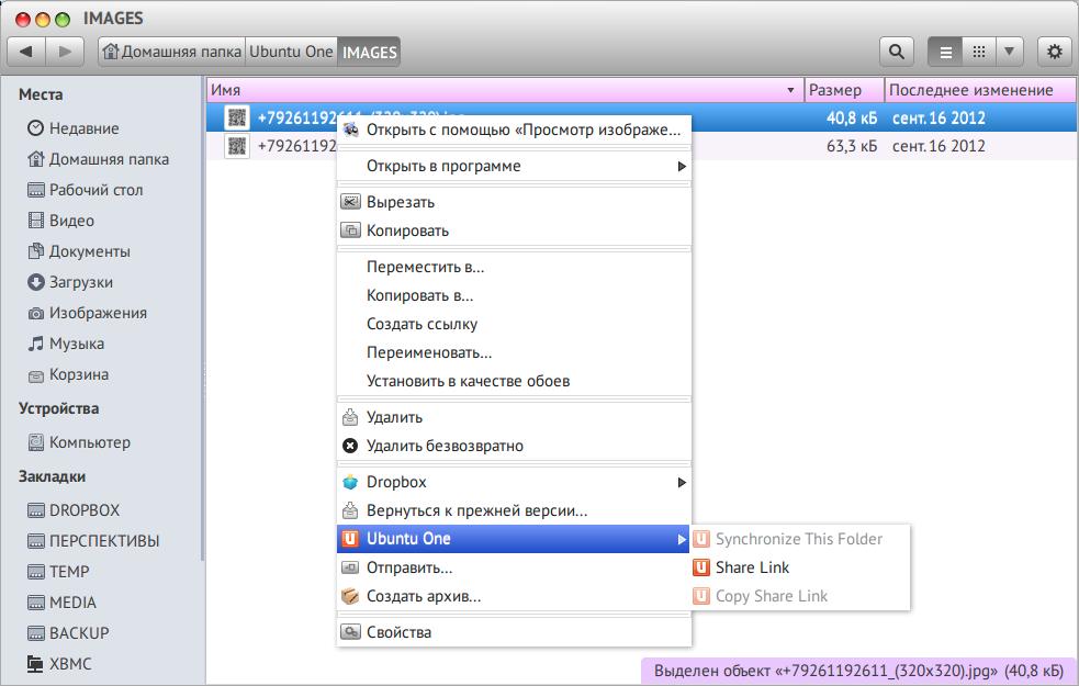 Как вернуть интеграцию UbuntuOne с Nautilus в Ubuntu 13.10