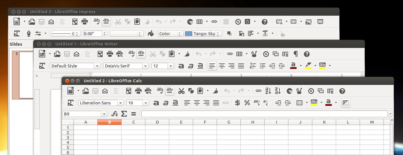 libreoffice-flat-icons-ubuntu Стильные иконки LibreOffice UBUNTU